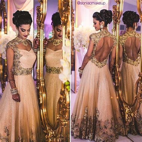 Indian bride, bridal hair, Indian gown, bridal makeup