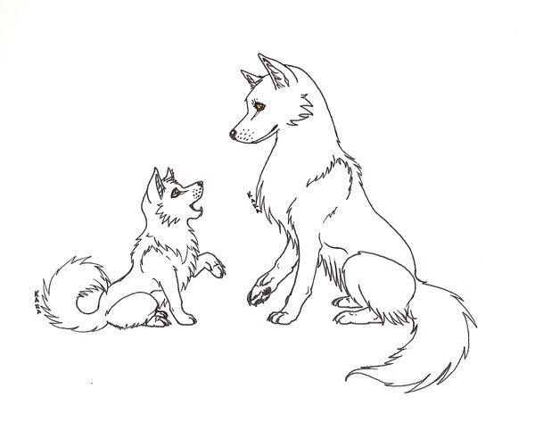 Cute Wolf Pup Drawing at GetDrawings | Free download