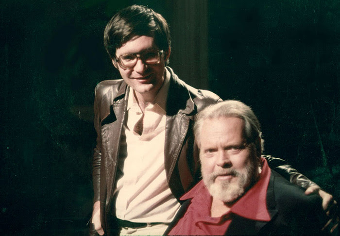 Joseph McBride with Orson Welles, 1978