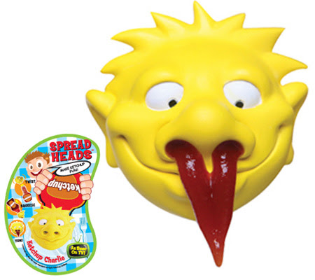 funny head squeezos 11 Funny Head Squeezos for Ketchup and Mustard Condiments
