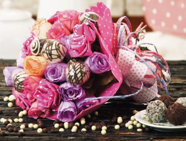 Passo a passo para o Dia das Mães Bouquet de flores com bombom passo a passo