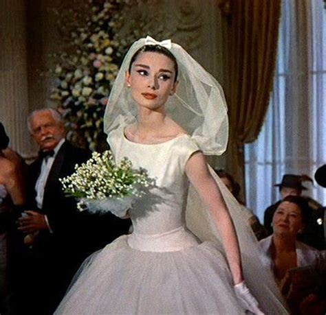 Wedding dress from Funny Face   Audrey Hepburn in a