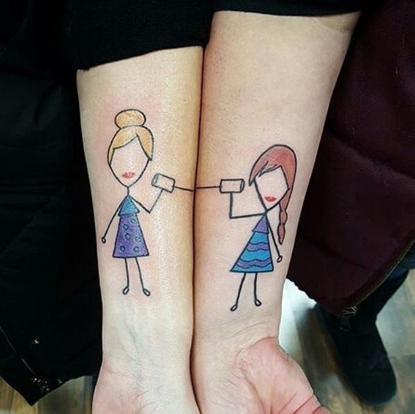 Best Friend Matching Tattoos Cutest 20 Best Friend Tattoo Designs