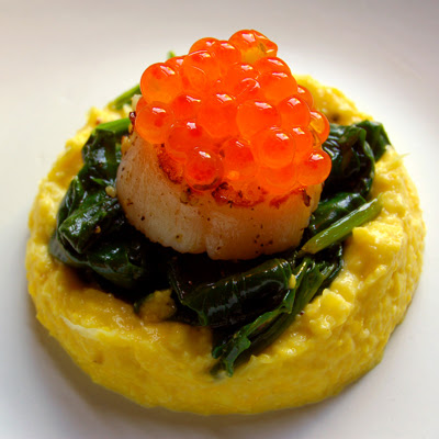 Seared Scallops with Creamed Corn© by haalo