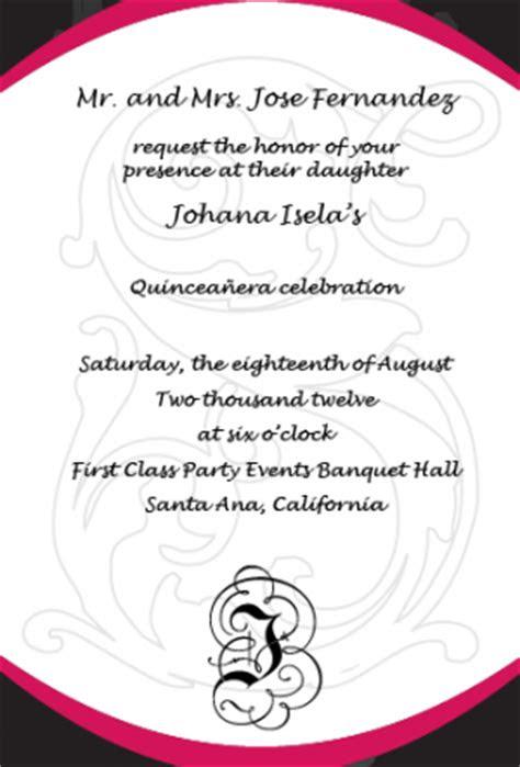 word  quinceanera invitations