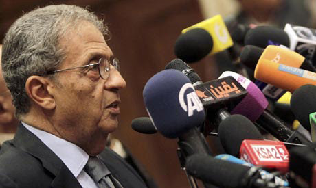 Former Secretary General of the Arab League Amr Moussa is now chairman of the military-appointed committee to amend the constitution in Egypt. They are seeking to isolate all opposition. by Pan-African News Wire File Photos