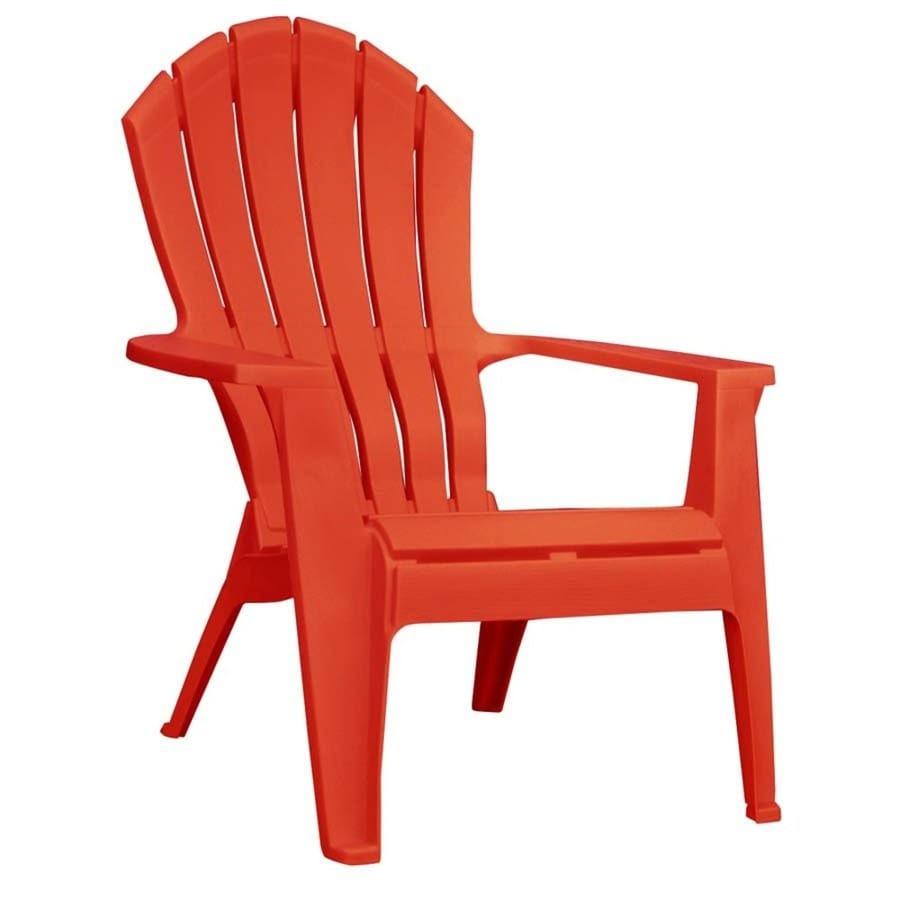 Shop Adams Mfg Corp Red Resin Stackable Patio Adirondack ...