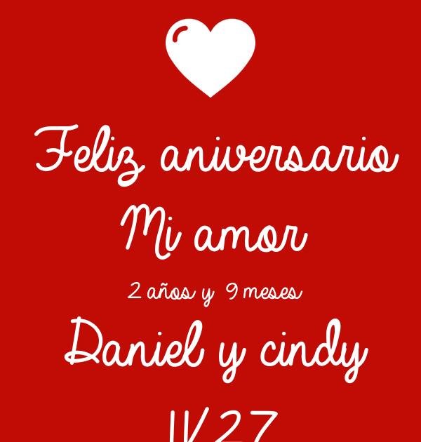 Feliz Aniversario Mi Amor 2 Anos Y 6 Meses