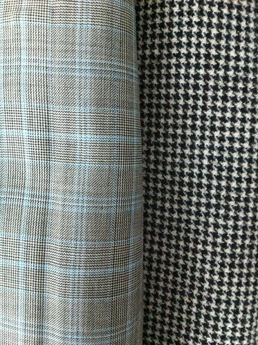 Plaid suiting and houndstooth jacketing