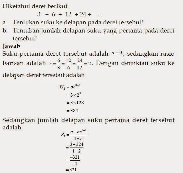 26 Contoh Soal Deret Geometri Cerita Kumpulan Contoh Soal