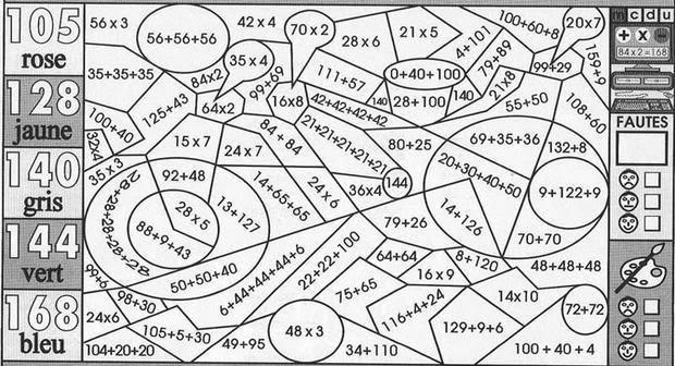 Coloriage204 Coloriage Magique Cm1 Maths