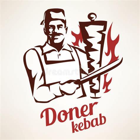doner kebab illustration stock vector illustration