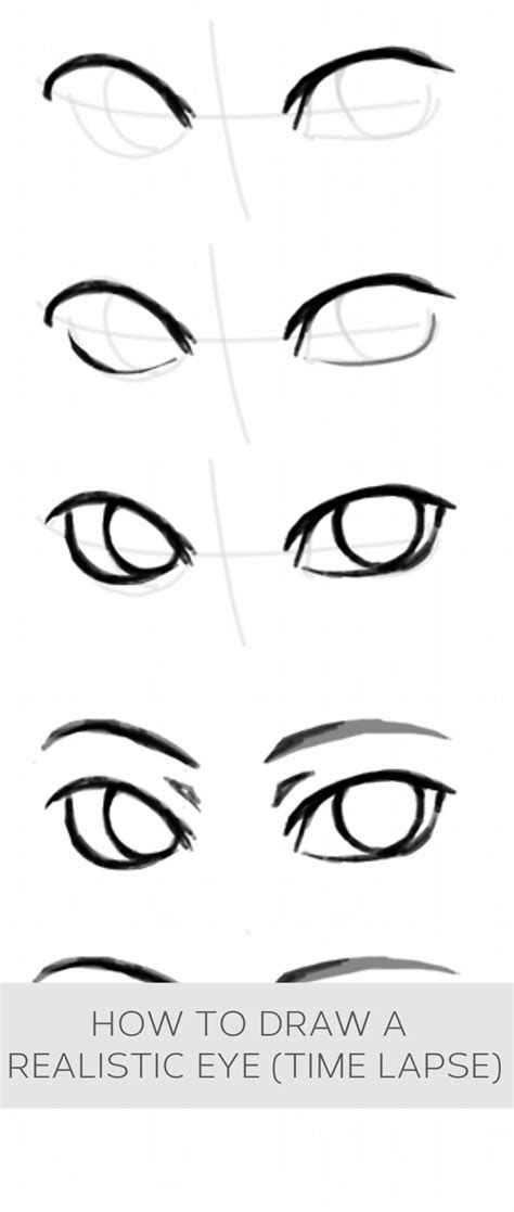 draw  realistic eye time lapse howto helpful