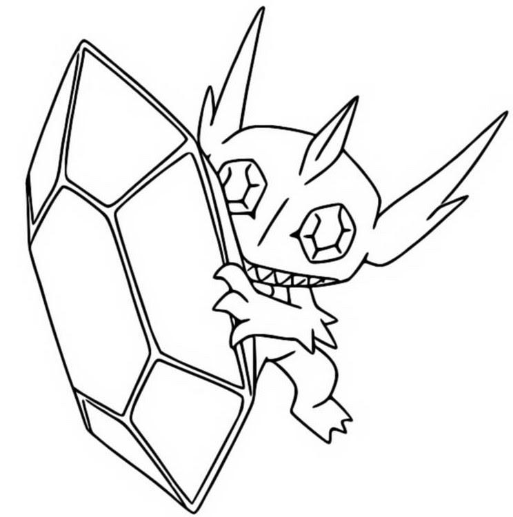 pokemon zum ausmalen glurak