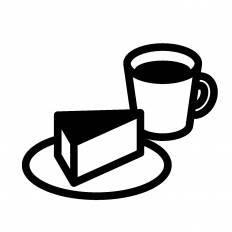 ケーキとコーヒーシルエット イラストの無料ダウンロードサイト