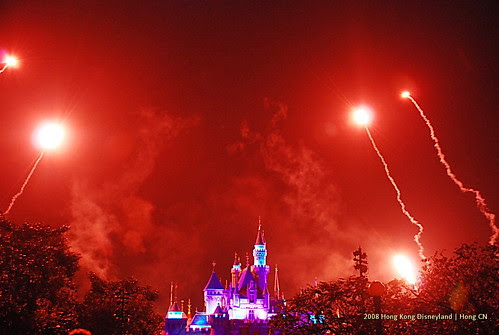 Fireworks in Hong Kong Disneyland