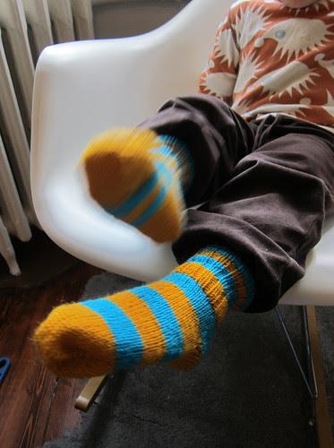 New socks for Lucas