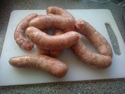 Tamworth pork, apple and sage sausages Jul 13 1