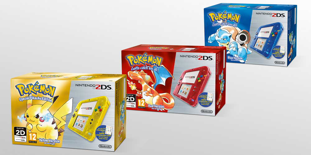 Classic Pokemon 3DS and 2DS Bundles Heading to North