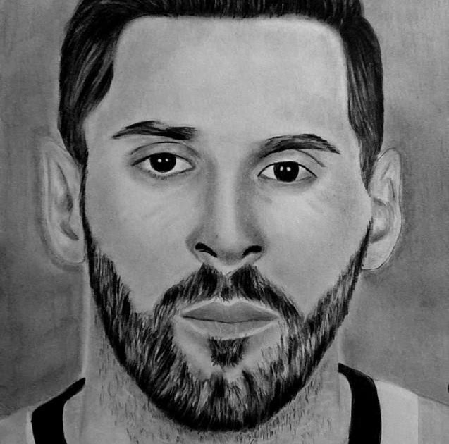 Lionel Messi Pencil Drawing Images