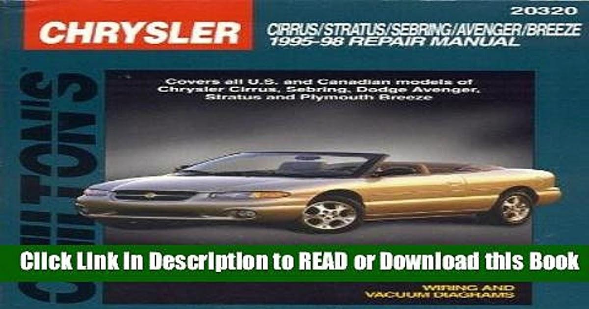 1995 Chrysler Cirrus Repair Manual