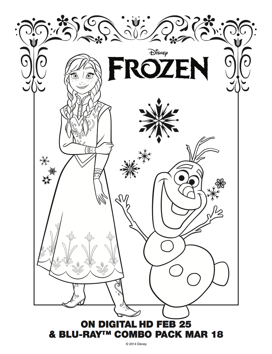 Elsa And Anna Images Frozen Anna And Olaf Coloring Sheet Hd