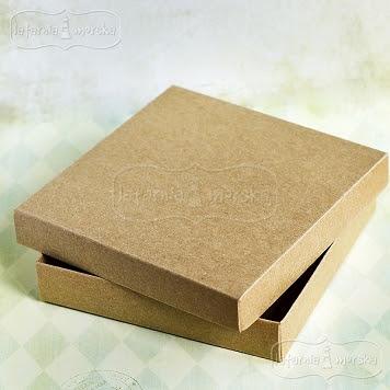 pudełko Latarnia Morska kraft na kartkę kwadratową