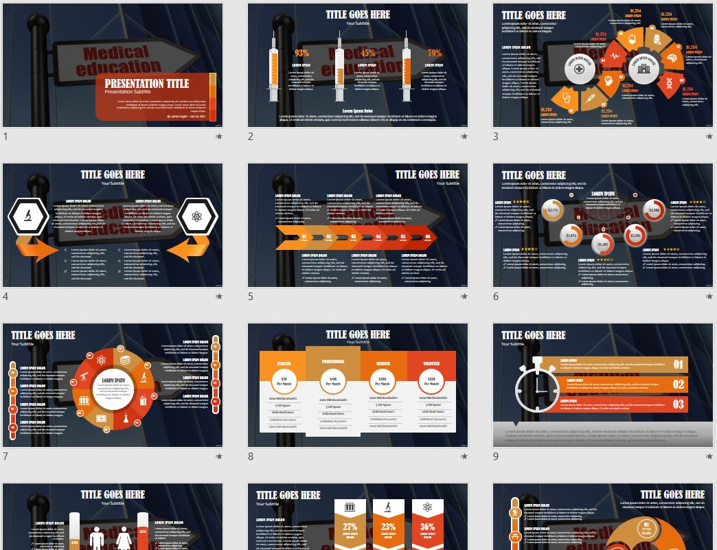 Medical Education Powerpoint Template 94767