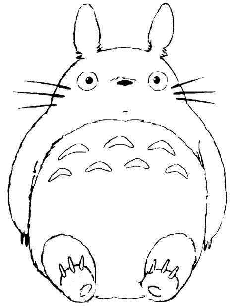 totoro coloring pages    print