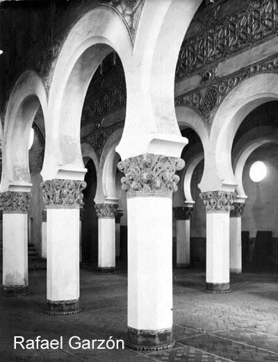 Sinagoga de Santa María la Blanca hacia 1897. Fotografía de Rafael Garzón