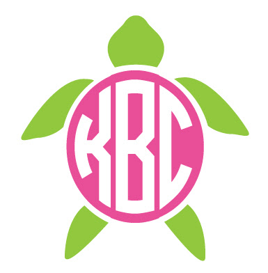 Download Monogrammed Turtle Decal