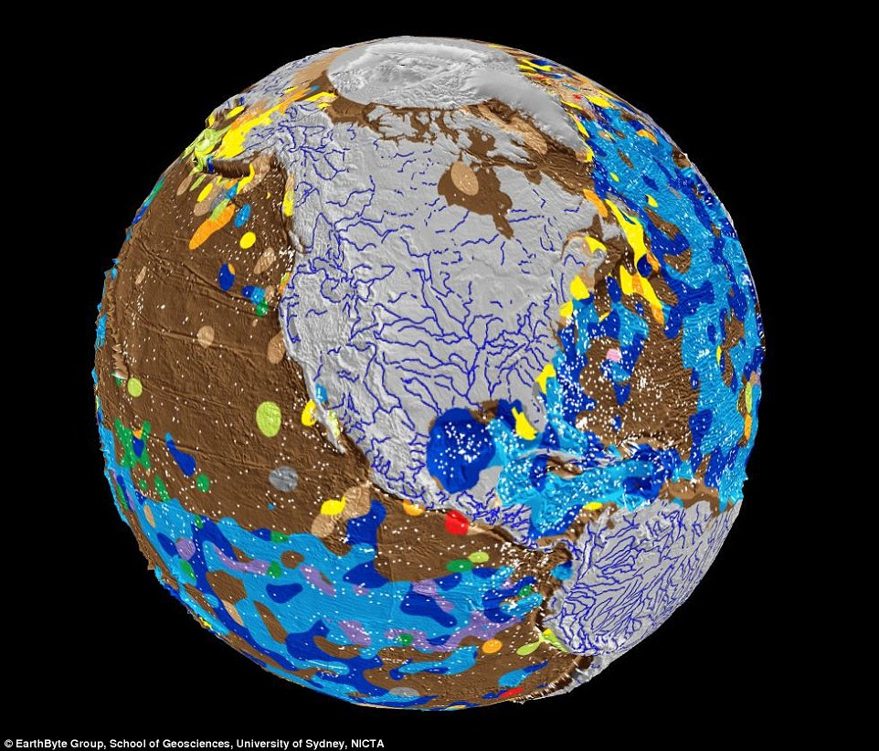 This is the first ever digital map of the Earth's seafloor, revealing deep ocean basins to be much more complex than previously thought