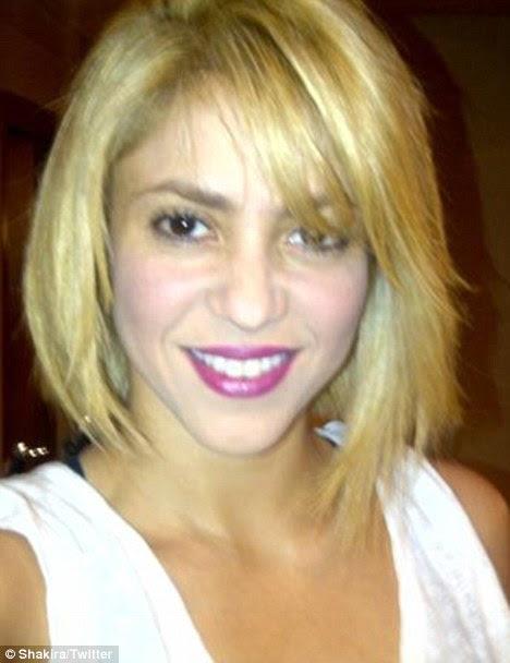 Shorn lobo: Ele continua a ser visto como os fãs vão reagir ao corte de cabelo Shakira apresentou ontem em Barcelona
