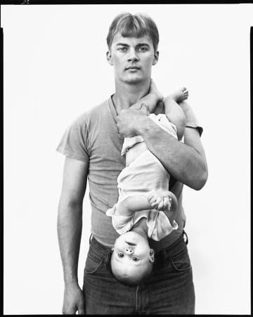 John Harrison, vendedor de madera, y su hija Melissa, Lewisville, Texas, 22 noviembre,1981