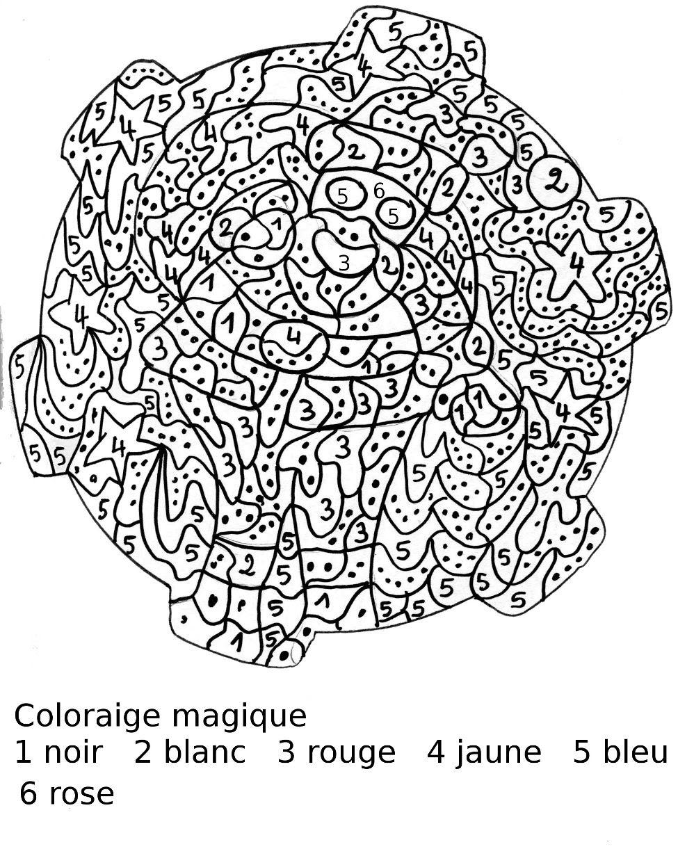 Inspiration Coloriage Par Numero A Imprimer   Haut ...