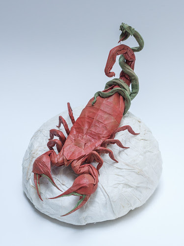 origami-scorpio-snake