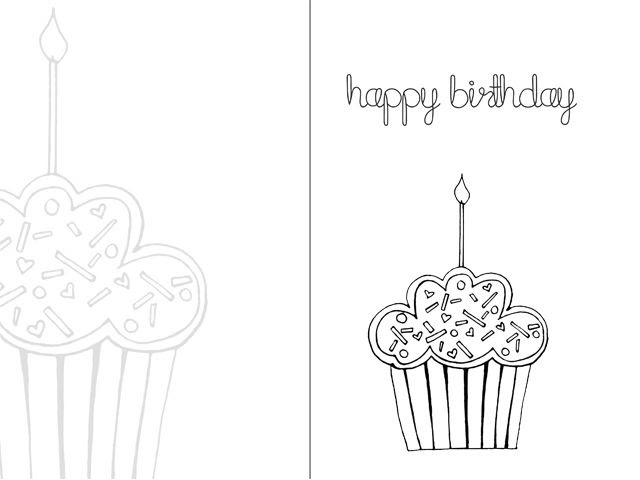 34 Happy Birthday Printable Coloring Cards - Free Printable Coloring Pages