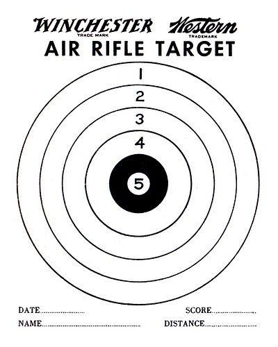 Air Gun Targets Printable | air rifle target pdf printable air ...