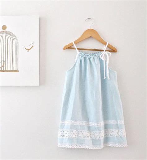 toddler girls linen dress aqua blue summer tunic beach