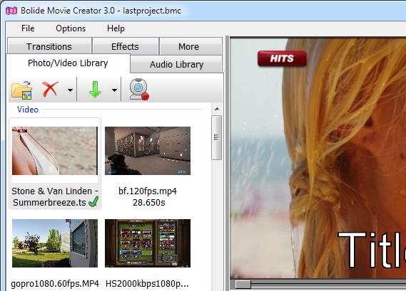 برنامج مجانى لتحرير وإنشاء الفيدوهات بسهولة Bolide® Movie Creator v1.3