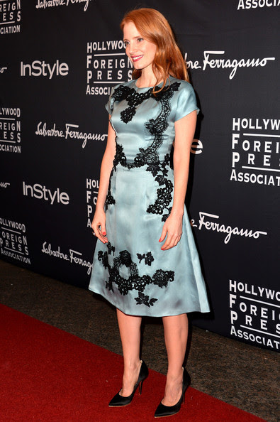 Jessica Chastain - Arrivals at the TIFF HFPA/InStyle Party