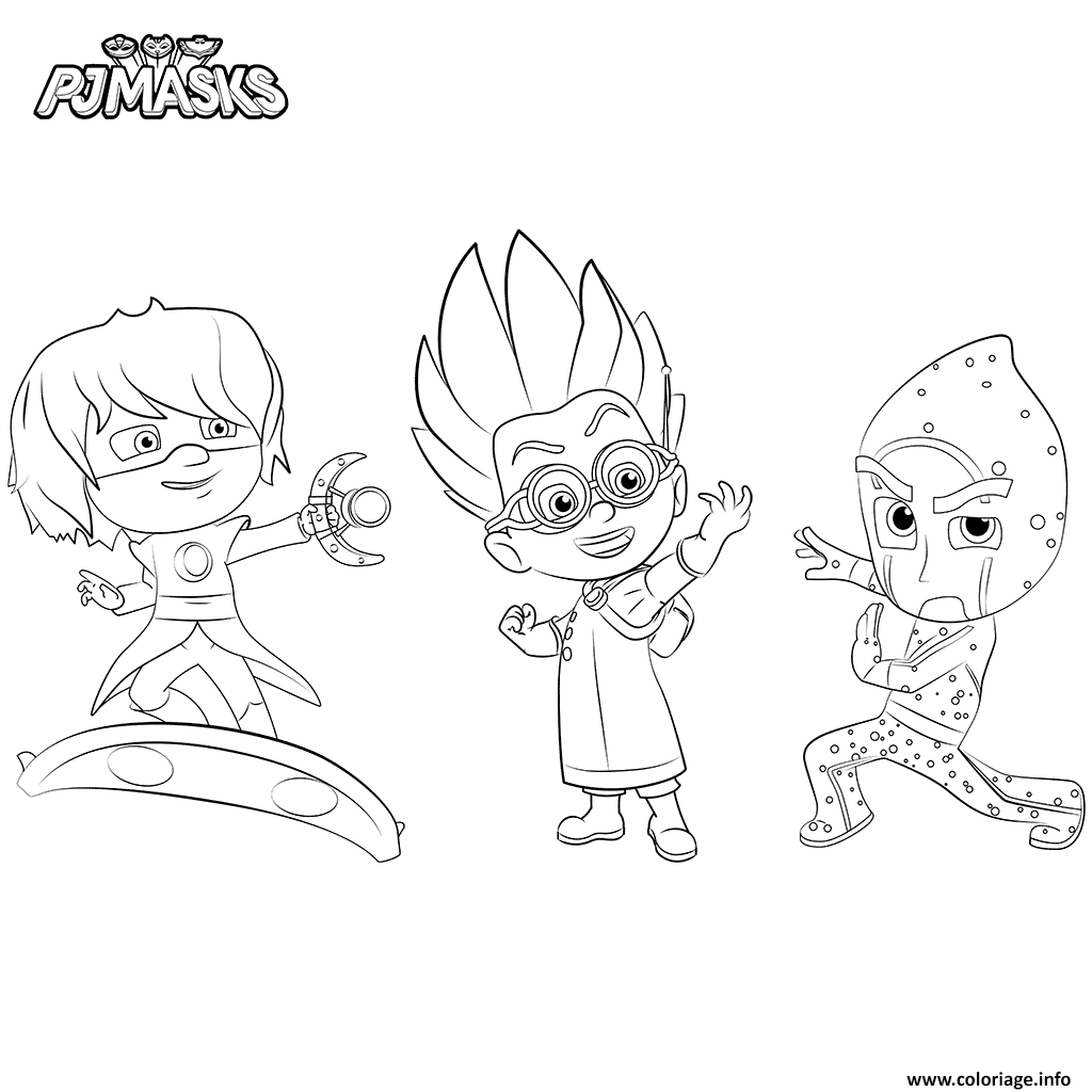 Coloriage Villains Pyjamasques Jecoloriecom