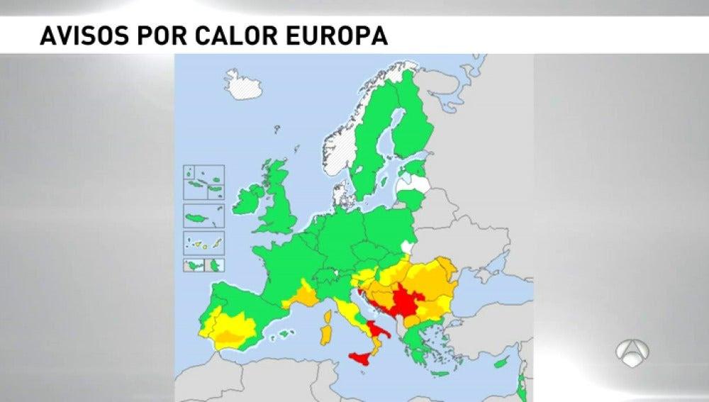 Resultado de imagen para europa en alerta por ola de calor