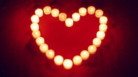wallpaper warm  loving heart shaped candle  hd