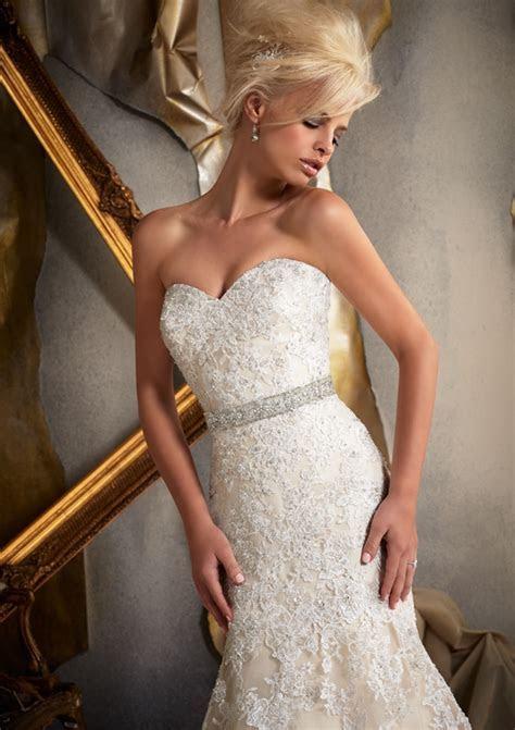 Morilee Bridal Venice Lace Appliques on Net Wedding Dress