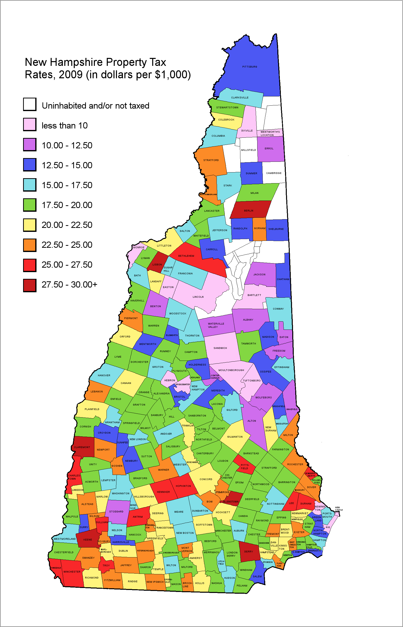 New Hampshire Geography Tax Map Weather Nh Page 2 City Data Forum
