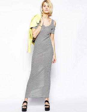 Image 4 ofVila Cold Shoulder Maxi Dress