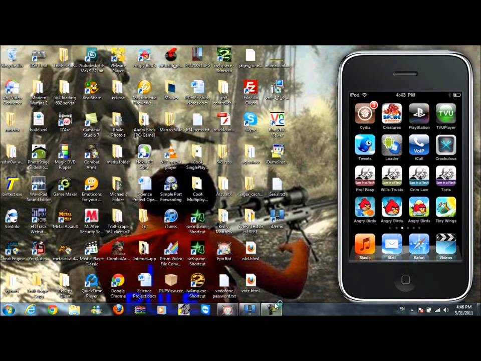 how to: connect ipod to your computer - YouTube