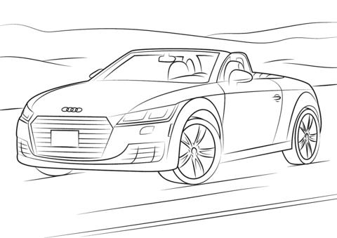 Ausmalbilder Audi Q7 - Kostenlos zum Ausdrucken