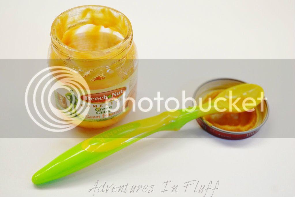 Empty Baby Food Jar